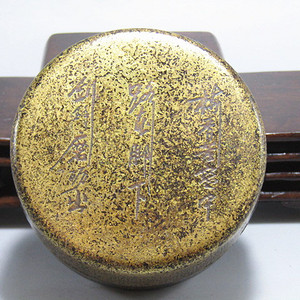 清 老铜打造 铜 圆形 墨盒