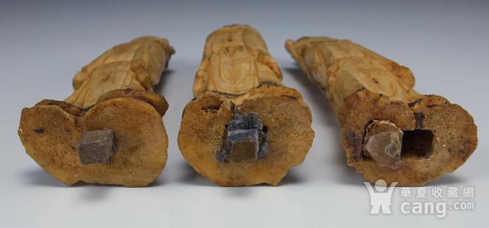 晚清 福禄寿三星 骨质雕塑像 三个 图9