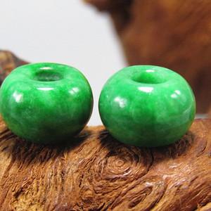 晚清 老坑翡翠 满绿 盘珠两颗