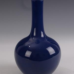欧洲回流季蓝釉天球瓶