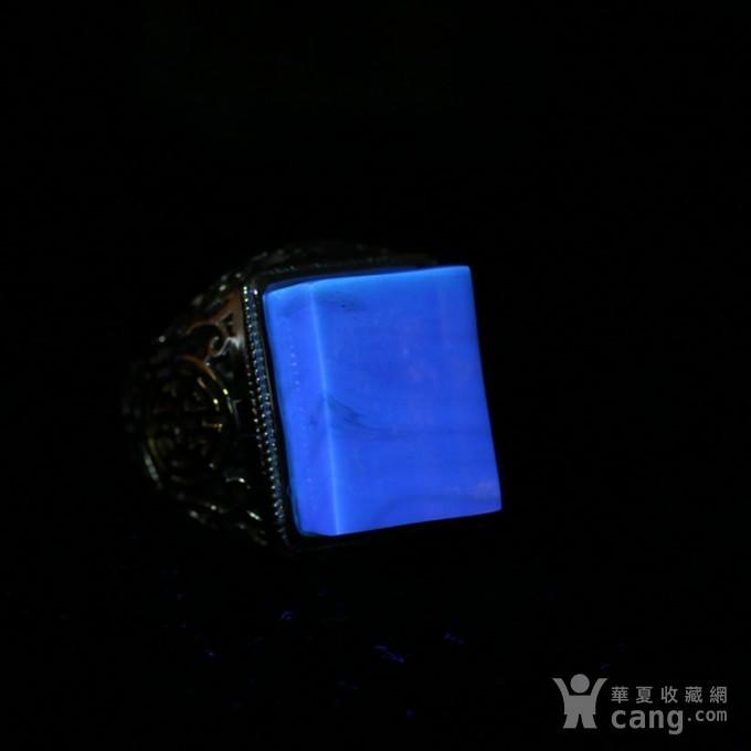 净水金珀阴雕龙腾银戒指 10KJ10图11