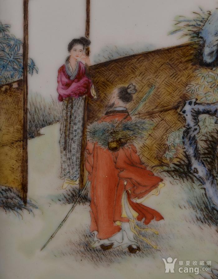 欧洲回流粉彩人物瓷板画图2