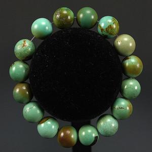 天然原矿绿松石园珠手链 收藏级