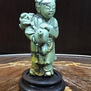 9037 清代 绿松石雕童子