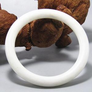 民国和田一级白玉 圆条手镯 玉质细腻熟润