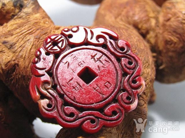 清红珊瑚 双面工艺二龙戏珠 福如东海 璧图4