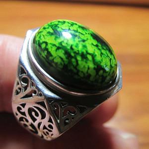 有些年头 纯银 精工镶嵌 满脑 戒指