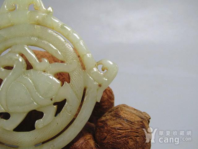 清和田玉 双面镂空透雕 龙龟玄武 吉祥牌油润度极佳图8