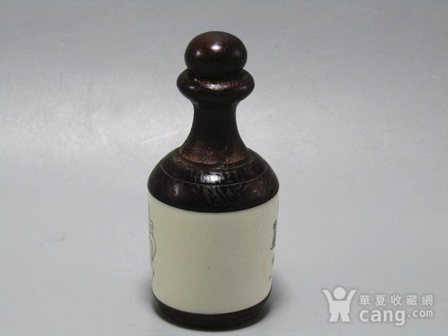 有年份黄花梨镶嵌骨雕 鼻烟壶 工艺非常好图7