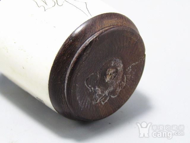 有年份黄花梨镶嵌骨雕 鼻烟壶 工艺非常好图8