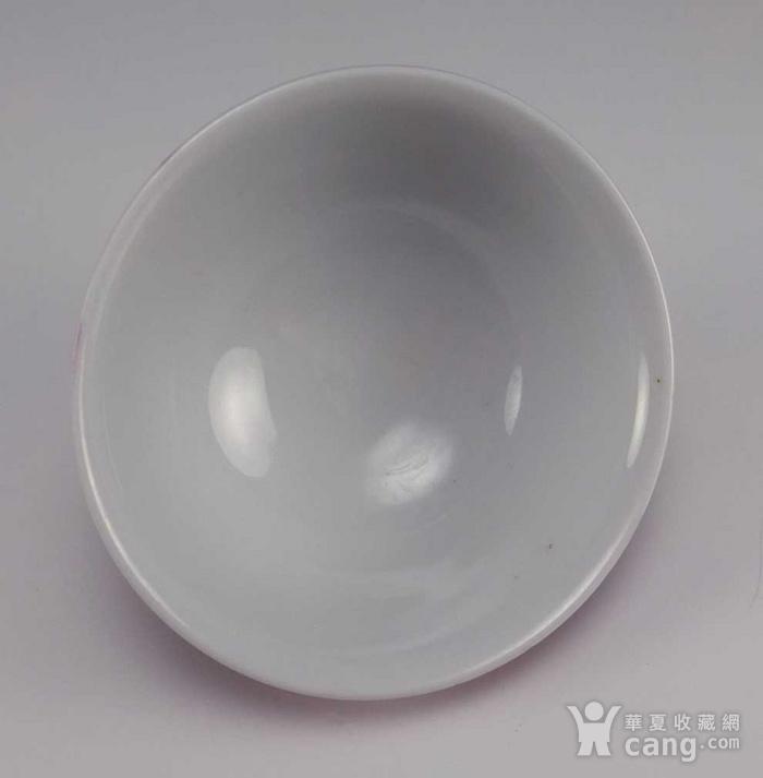 民国胭脂红雕龙纹碗 小精品图7