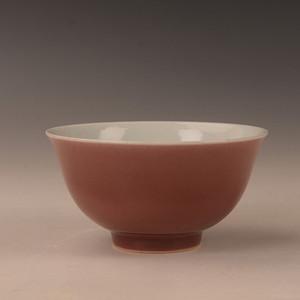 欧洲回流清霁红釉碗