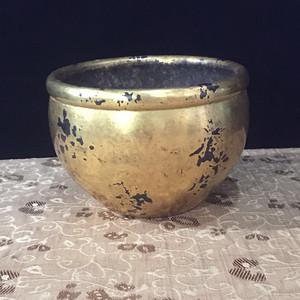 欧洲回流鎏金铜小缸