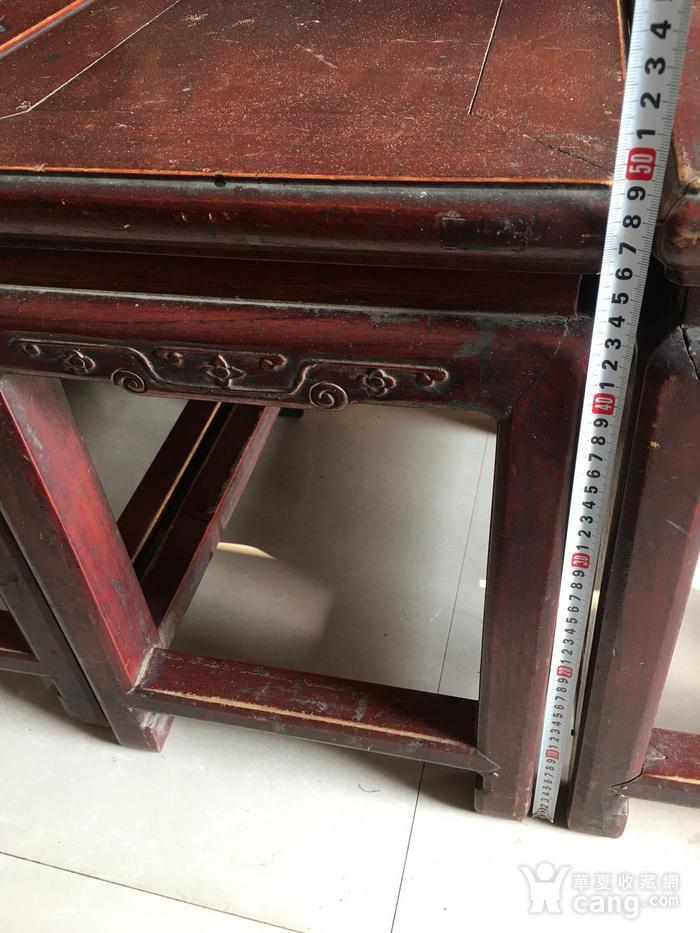 榉木方凳四个一套图3