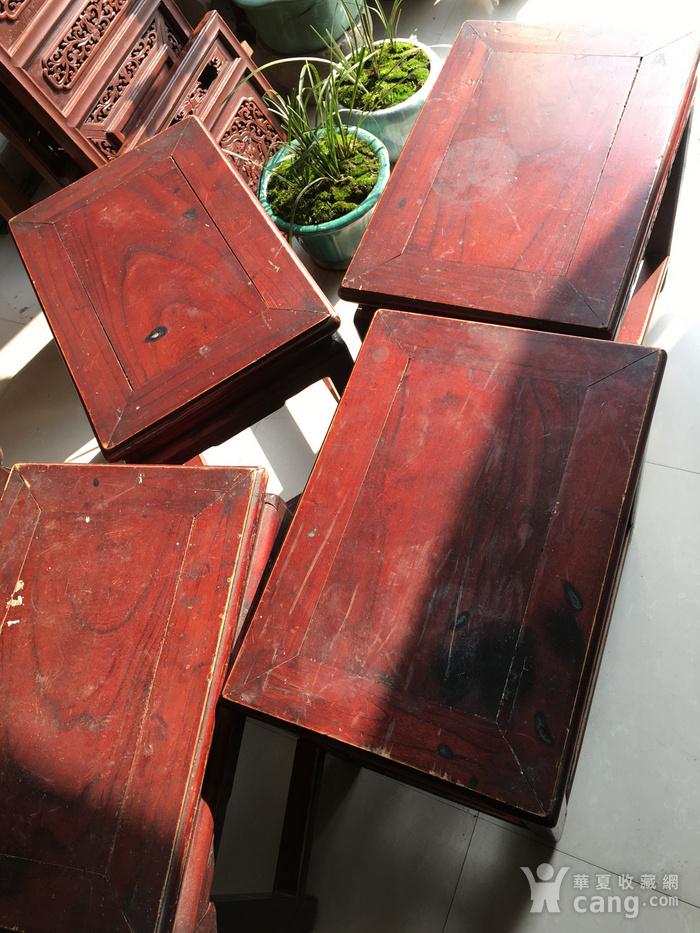 榉木方凳四个一套图5