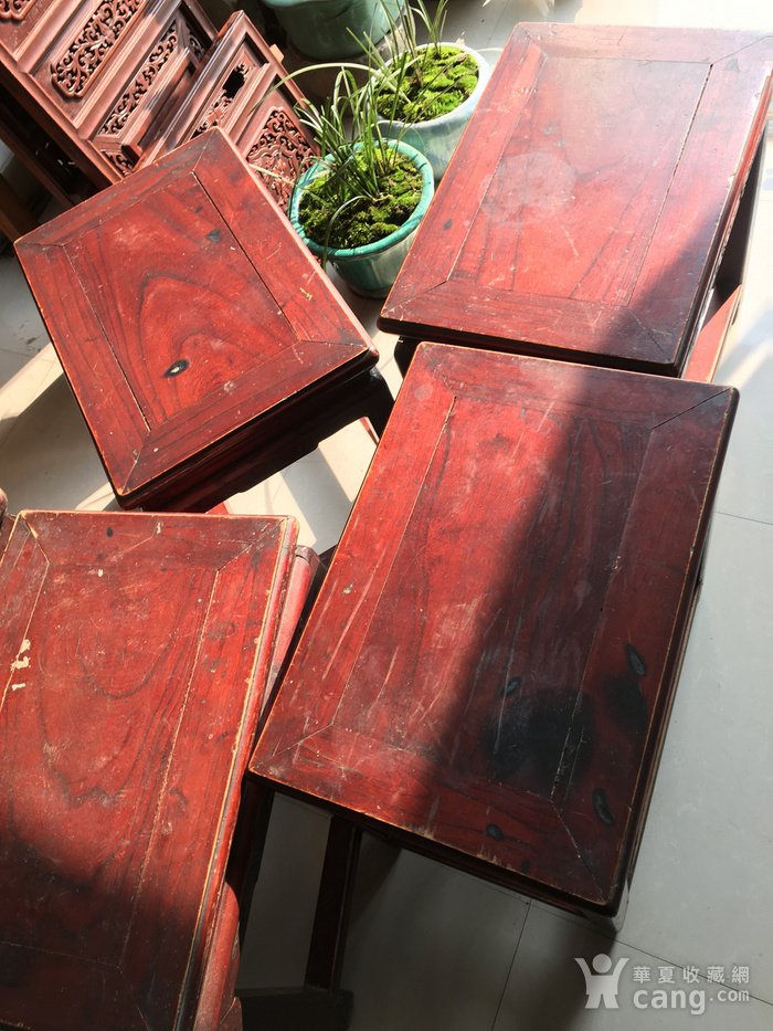 榉木方凳四个一套图6