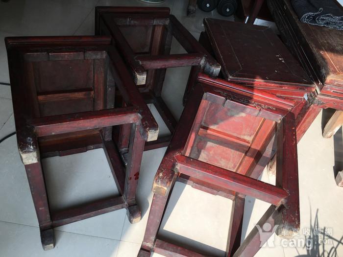 榉木方凳四个一套图9