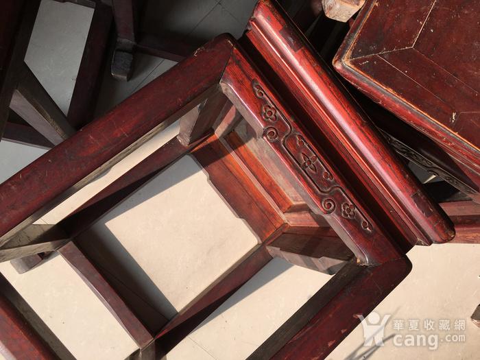榉木方凳四个一套图10