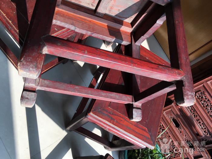 榉木方凳四个一套图12