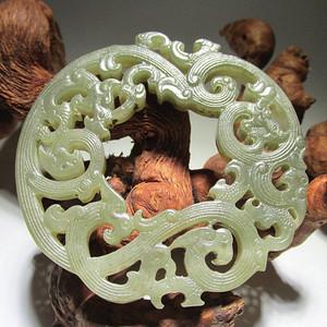 清 和田玉 精工雕刻 龙佩 雕刻精美 包浆老道 品相完好