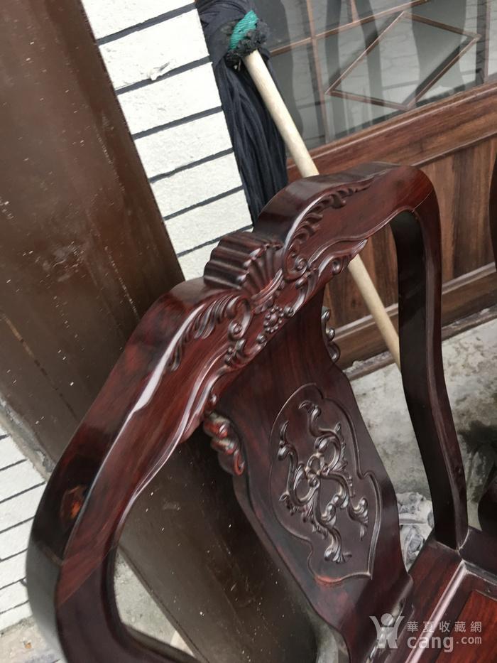红木单背椅四把一套图4