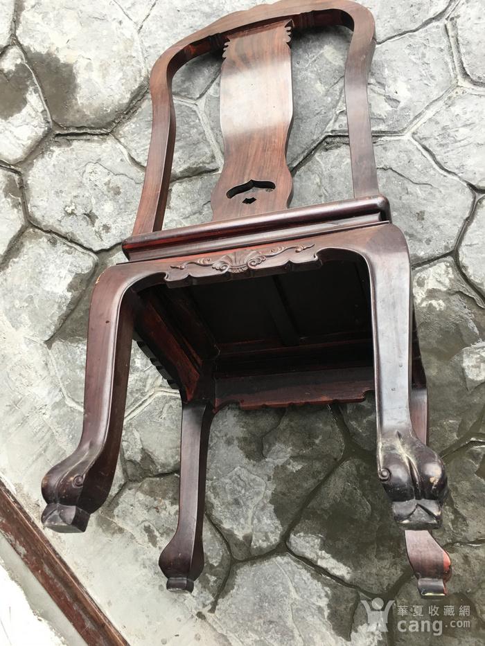 红木单背椅四把一套图8