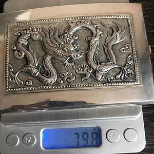 一个纯银龙纹盒子