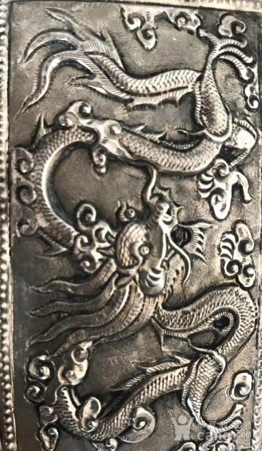 一个纯银龙纹盒子图7
