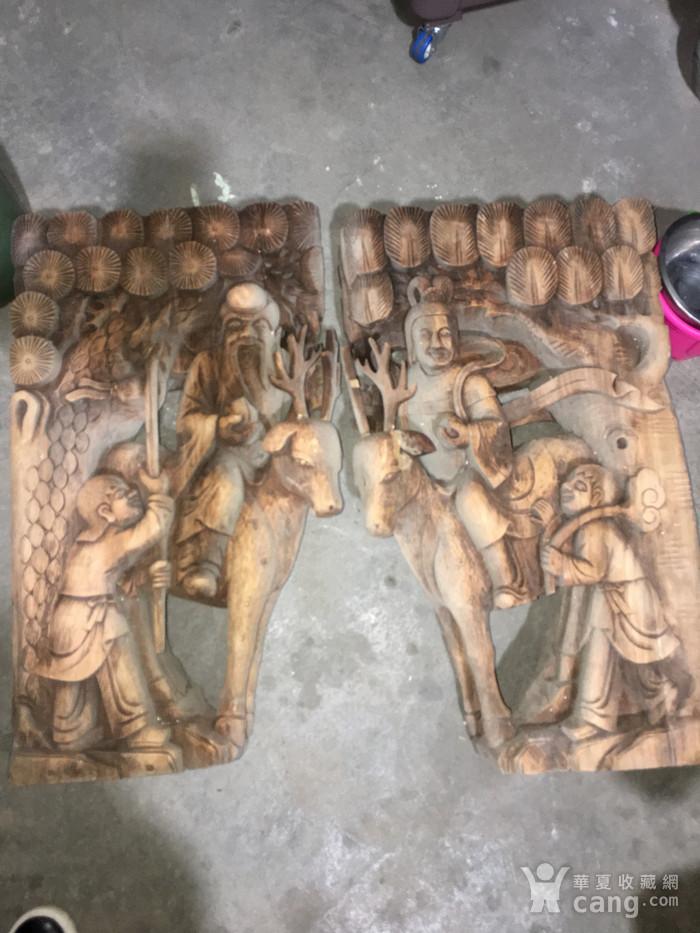 樟木雕大牛腿图1