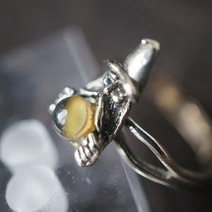 北美猫眼石开口戒指
