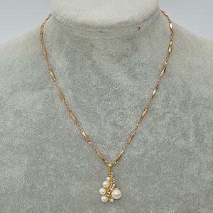 国外回流8克镶珍珠吊坠项链