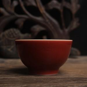 红釉品茗杯