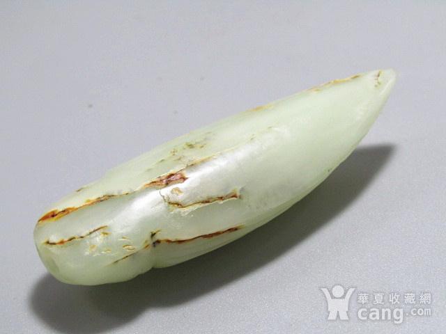 晚清和田白玉籽料 蝉挂件 玉质及其熟润 包浆老厚图6
