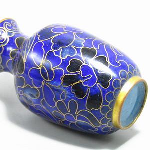 清晚期 紫铜掐丝珐琅 赏瓶 胎釉漂亮