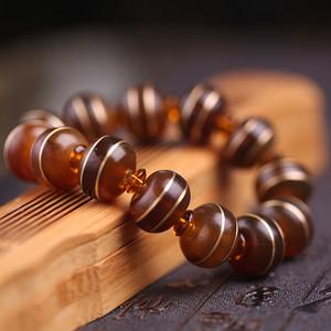 稀缺西藏大昭寺供养级老ling羊角手串