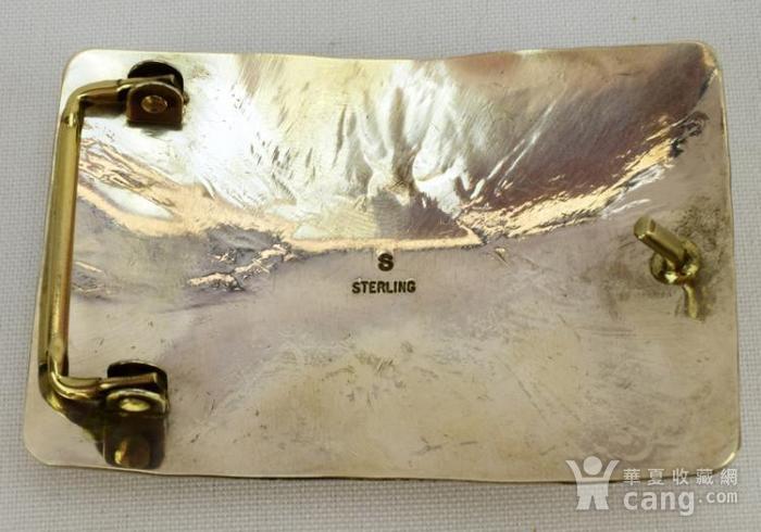 一个纯银镶嵌珊瑚绿松石的皮带扣图4