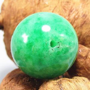 民国正阳绿 翡翠大圆珠