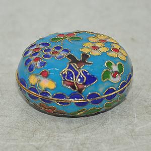 景泰蓝印泥盒