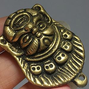 藏传 清代 铜制 黑天护法神 手工錾刻 工艺不错 百年加持