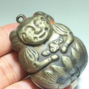 藏传 清代 纯铜 鎏金 释迦牟尼 佛 手工錾刻 工艺不错
