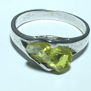 英国回流 橄榄石 戒指 手工打磨宝石切割 镶嵌