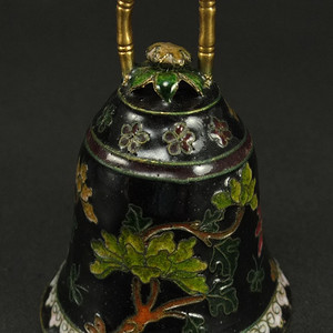 清代铜胎掐丝珐琅 花绘纹 铃