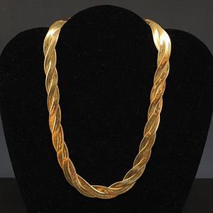 美国回流 银鎏金项链
