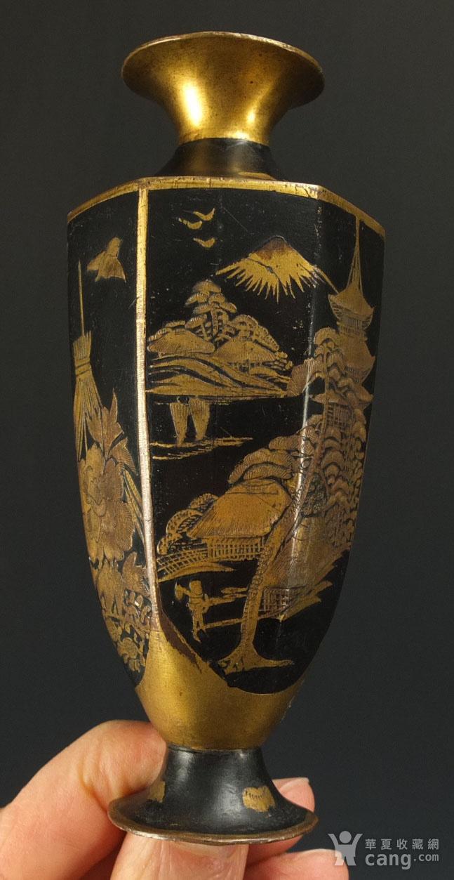 清代铜胎描金龙纹观音瓶 一对图12