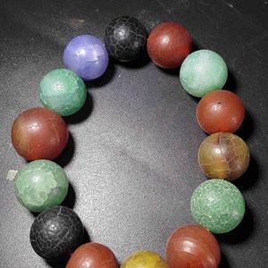 彩玛瑙珠子
