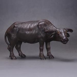 民国 瓷雕 水牛