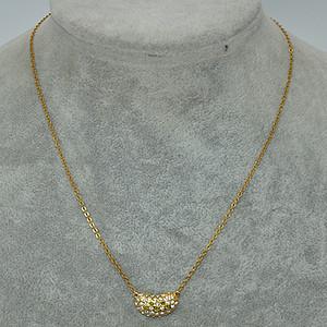 3.3克镶水晶吊坠项链