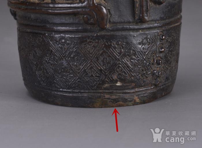 明 浮雕人物 铜香筒图10