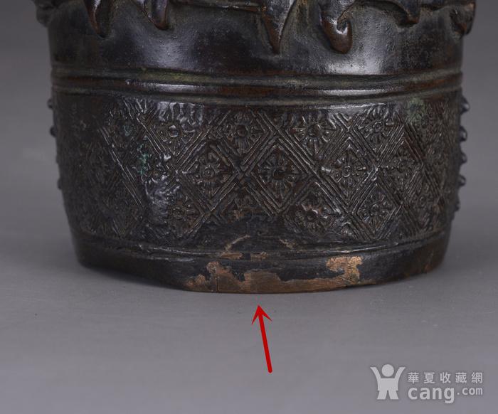 明 浮雕人物 铜香筒图11