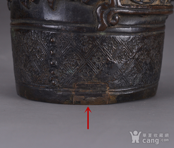 明 浮雕人物 铜香筒图12